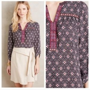 One September gray pattern blouse
